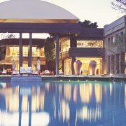 Saxon Hotel Villas view from pool - Explorer Safari